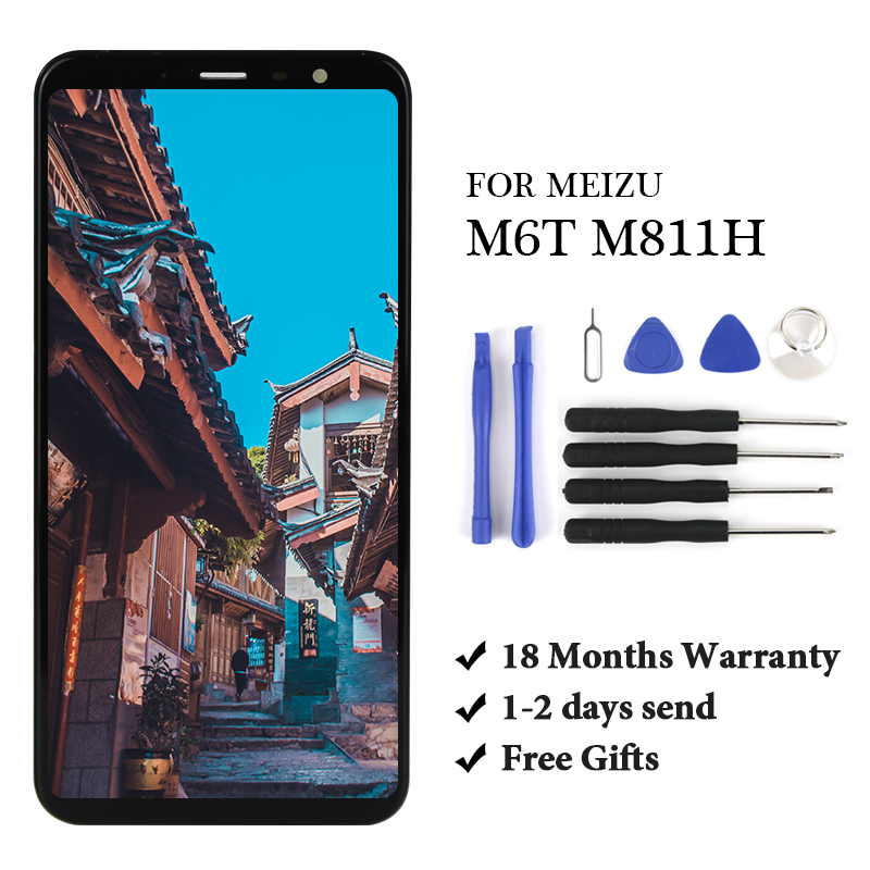 18 month Warranty With / Without Frame For <font><b>Meizu</b></font> <font><b>M6T</b></font> / Meilan 6T M811Q <font><b>M811H</b></font> LCD Display+Touch Screen Digitizer Assembly image