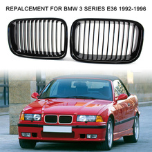 1Pair Car Front Grilles Gloss Black Repalcement for BMW 3 Series E36 1992 1996  51138122237 (Left) 51138122238 (Right)