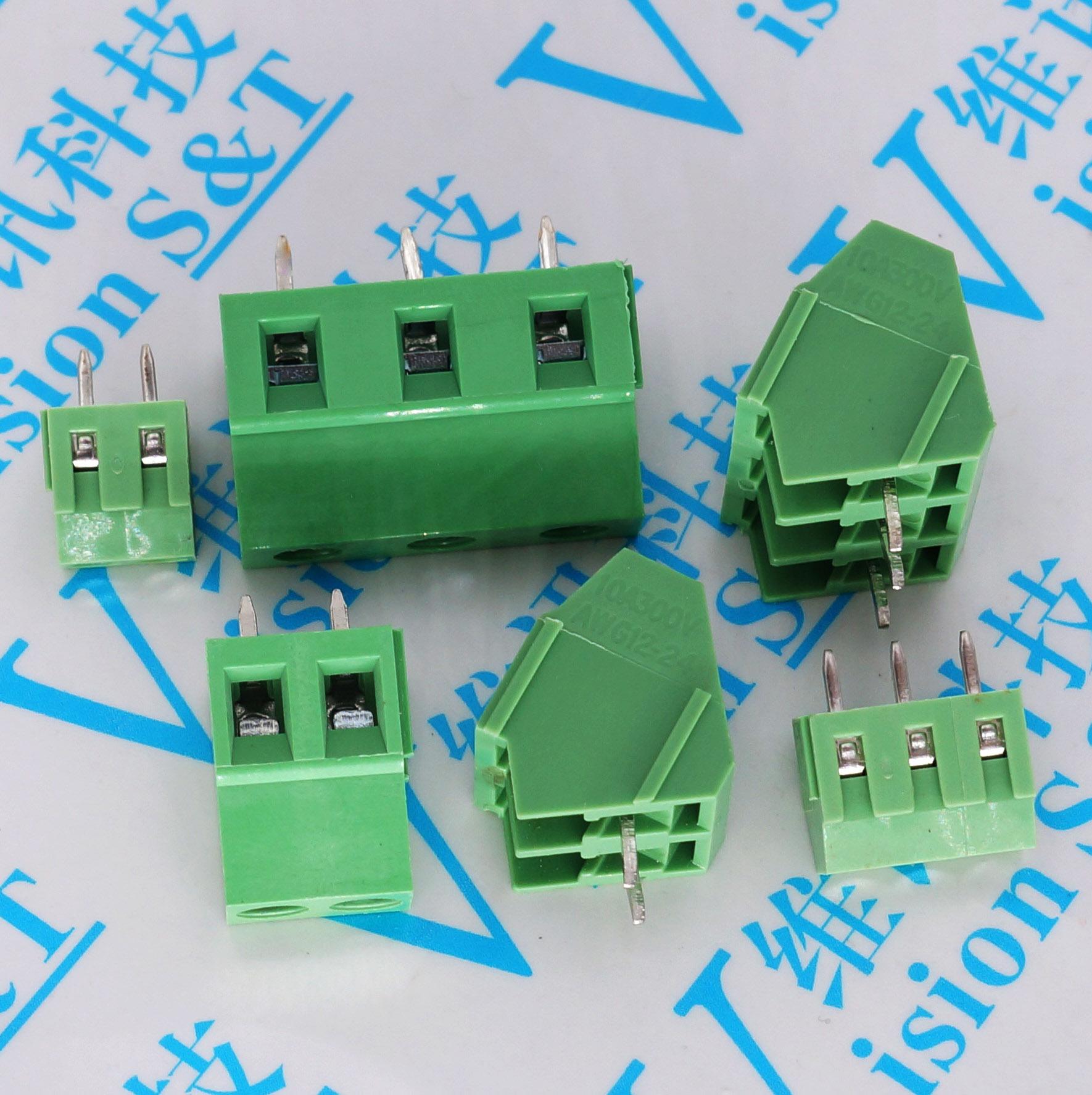 10pcs KF128 5.0 5.08 7.5 3.81mm PCB Screw Terminal Block Connector 2P 3P 4P 5P 6 Pin