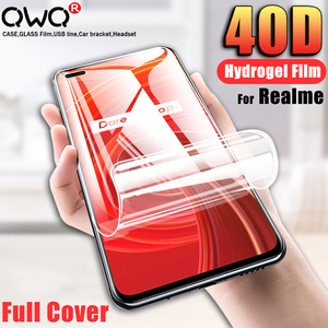 40D Hydrogel Film Screen Protector For Realme 5 X2 X7 X50 6 Pro Soft Protective Film For Realme C3 C11 C12 C15 XT V5 Not Glass