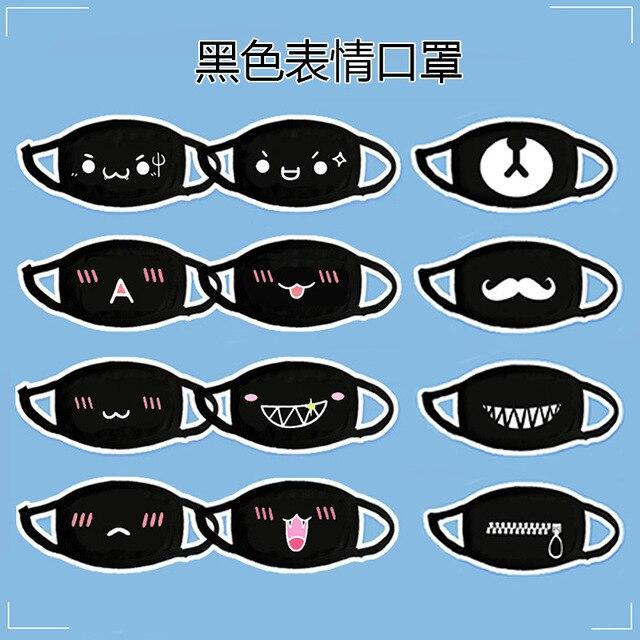 3pc/lot Cartoon Mouth Mask Cotton Washable Anti-Dust Face Mask Fashion Teeth Kawaii Cute Reusable Unisex Kpop Bear Pocket Cover 3