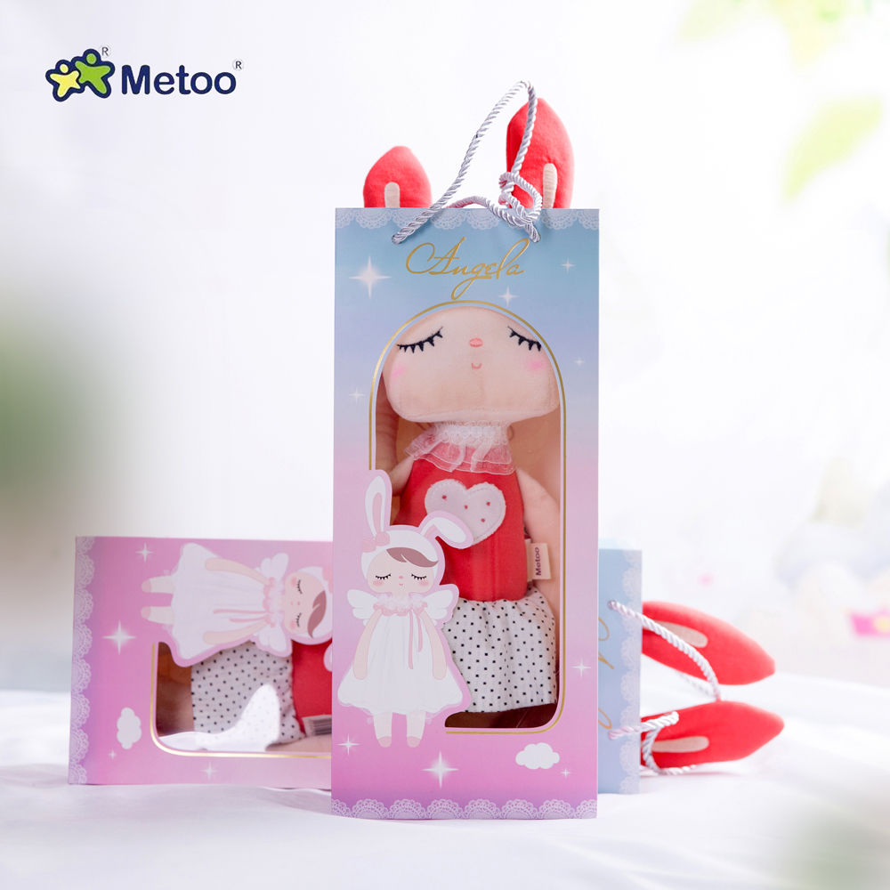 2020 Metoo Classic Style Unique Gifts Sweet Cute Angela Rabbit Doll Baby Plush Doll For Kids Christmas Gift Bicycle Teapot Bowl