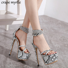 Купить с кэшбэком Rhinestone Buckle Strap Party Sandals Summer shoes Women's High Heel Shoes High Thin Strap Heels Women wedding Sandals YMA996