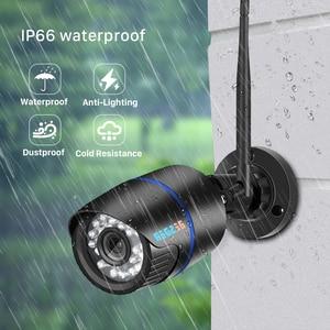 Image 2 - BESDER1080P IP 카메라 와이파이 IR 나이트 비전 SD 카드 무선 카메라 2MP 오디오 기록 총알 Onvif CCTV 야외 비디오 감시