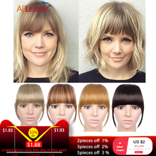 Alileader New Blunt Bangs Soft Light Synthetic Hair Bangs Clip On Hair Style Extensions False Fringe More Прочный Прямой Bang