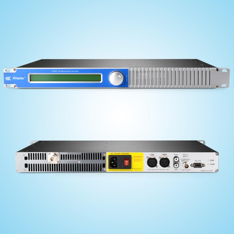 FMUSER 100W 150W Radio FM Transmisor FM 87-108 Mhz Kit de antena FM polarizada circularmente