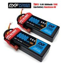 DXF 2PCS 3S Da Bateria Lipo 11.1V 11.4V 14.8V 5200mAh 6400mAh 6750mAh 7500mAh 8000mAh 100C 200C 140C 280C 130C 260C para RC 1/10 Carro