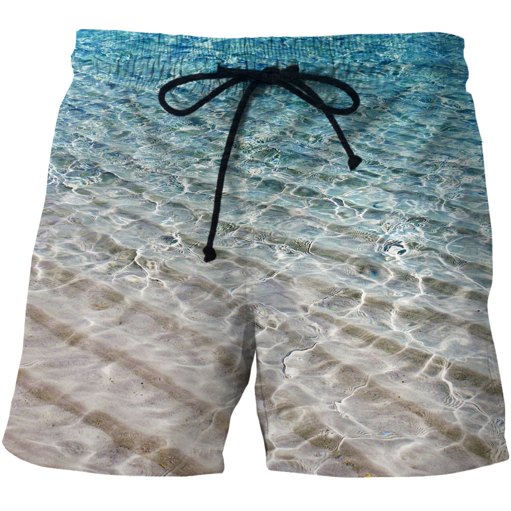 Men's Quick-drying Beach Shorts 3D Star Creative Printing Leisure Shorts