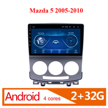 цена на 2 Din 9 Inch Car Android Multimedia Player For Mazda 5 2005 2006 2007 2008 2009 2010 Radio Audio GPS Navi WIFI