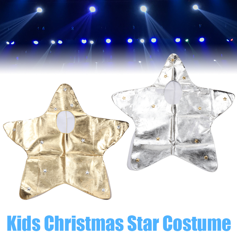 Kids Cute Christmas Star Costume Boys Girls Christmas Party Fancy Dress Outfit Stars Stage Show New Year Fancy Dress Hat