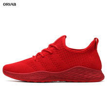 Breathable Men Sneakers Male Tenis Adult Red Black High Quality Men Casual