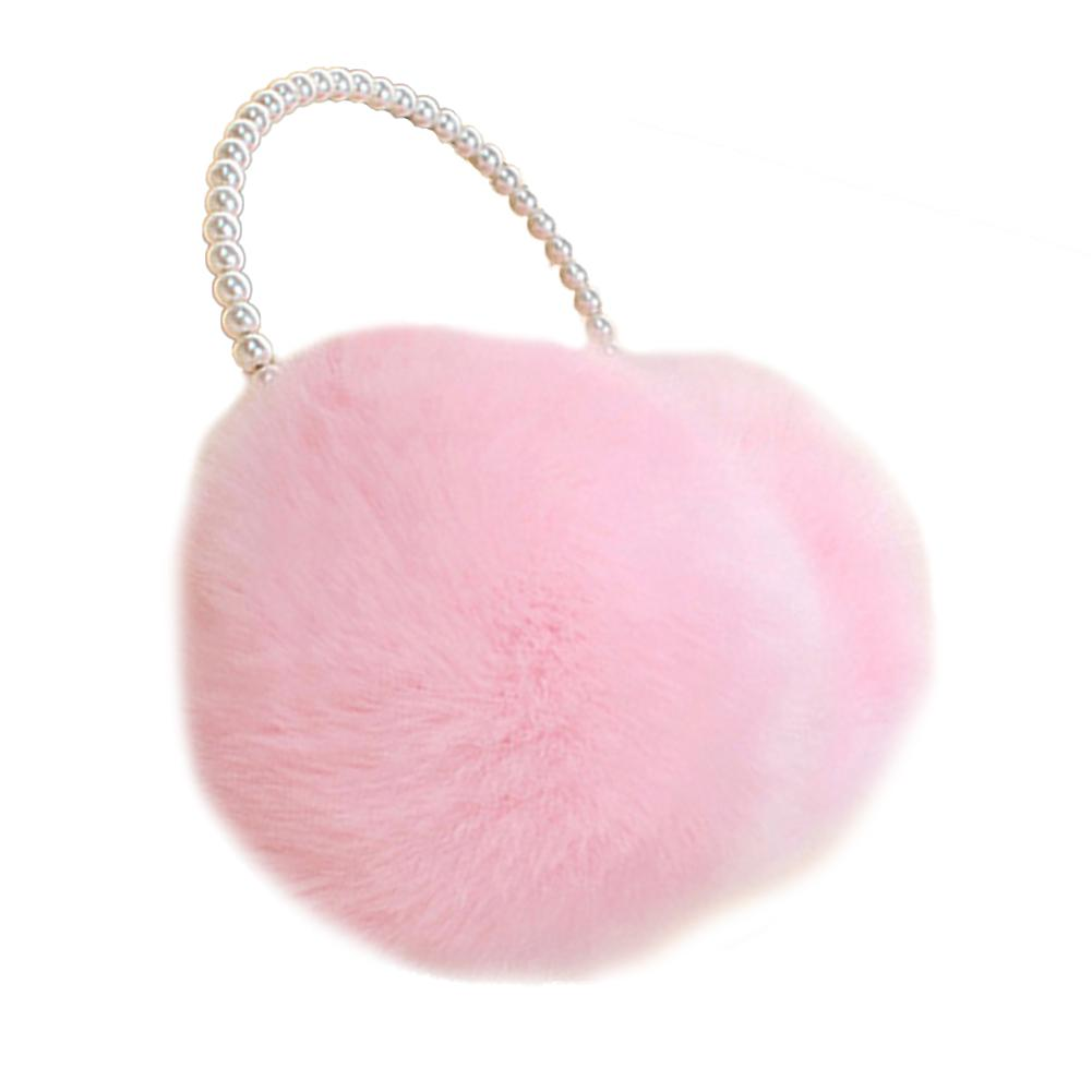 Novelty Pearl Winter Earmuffs Women Fur Earmuff Ear Warmers Girls Imitation Rabbit Plush Warm Ear Muff Ear Hair Accessories