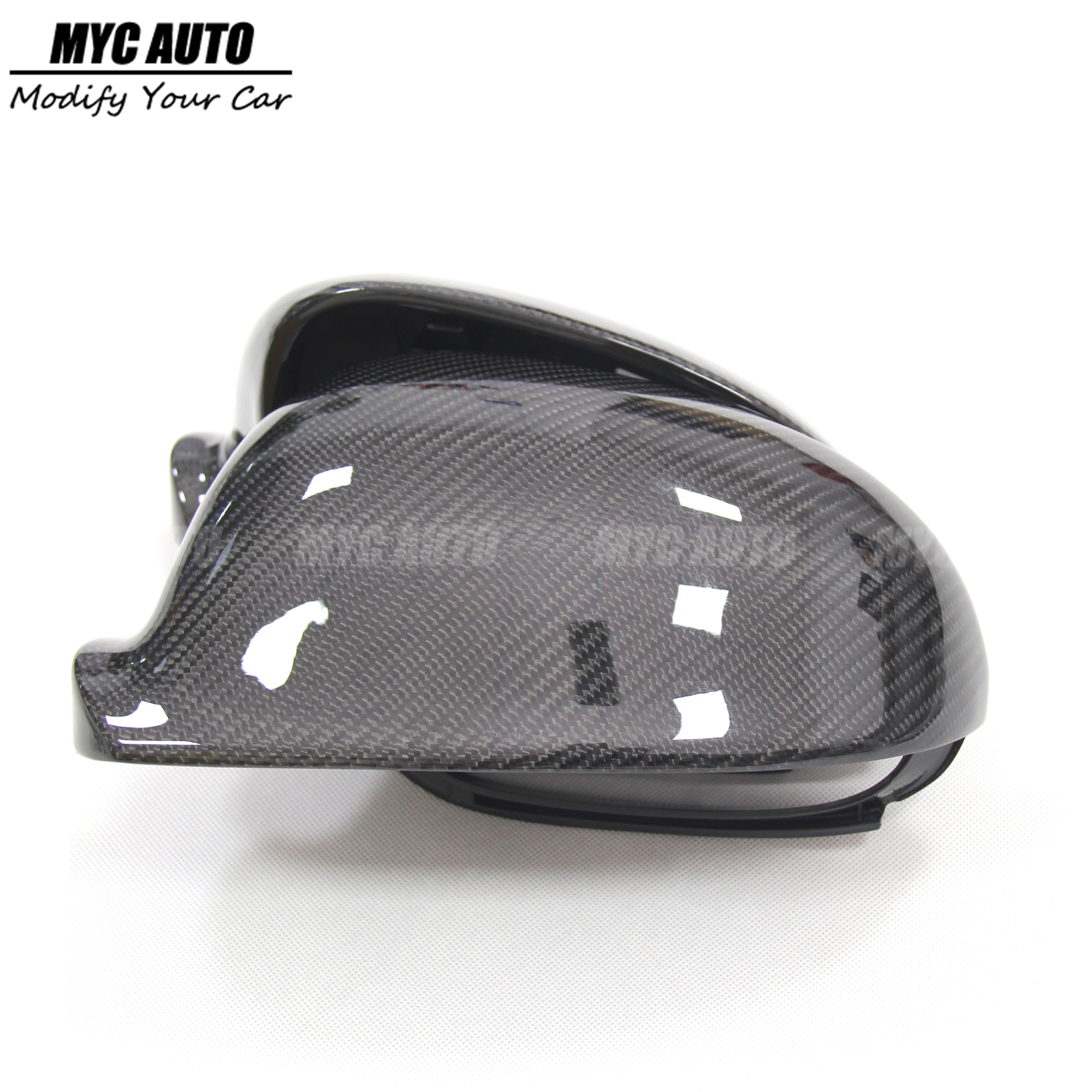 Replacement For Volkswagen VW Jetta Carbon Fiber Rear View Mirror Cover 2006 2007 2008 2009 2010 2011-2015 2016-2019