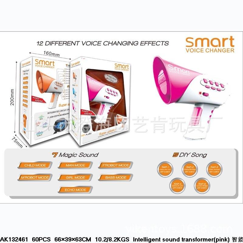 Hot Sales Children Novelty Voice Changer Toy Smart Voice Changer Blue Trumpet Funny Multi-Channel Trumpet Batch