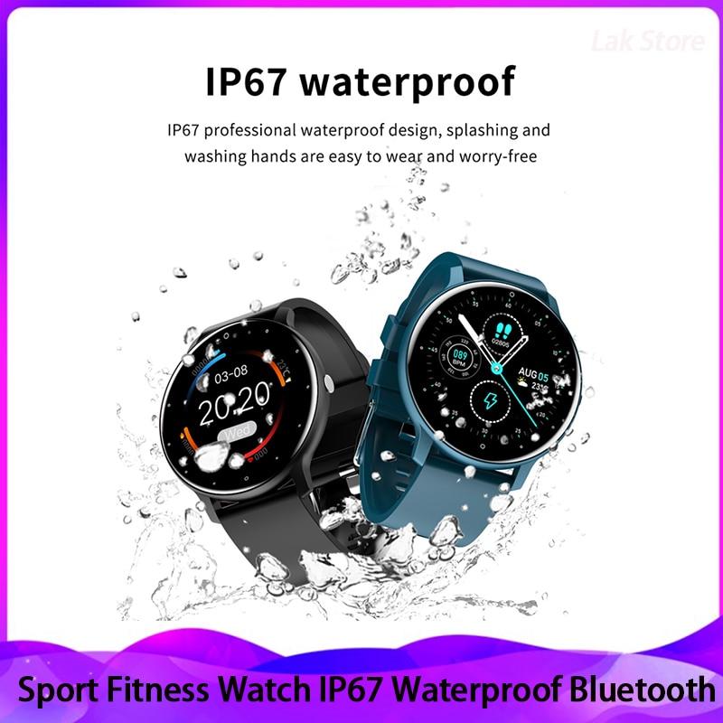 LIGE 2021 New Smart Watch Men Heart Rate Sport Multifunction Waterproof Full Touch Screen Smartwatch Man Women For Huawei Xiaomi 1
