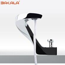 BAKALA, современный дизайн умывальника, смеситель для ванной комнаты, водопад, краны для горячей и холодной воды, для раковины, F8151-1 для ванной комнаты
