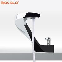 BAKALA modern washbasin design Bathroom faucet mixer waterfall Hot and Cold Water taps for basin of bathroom F8151 1