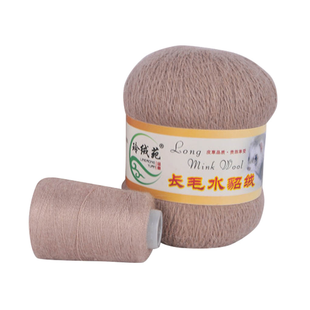 Soft Mink Wool Yarn Hand-knitted Luxury Long-wool Cashmere Crochet Knitted Yarn For Autumn