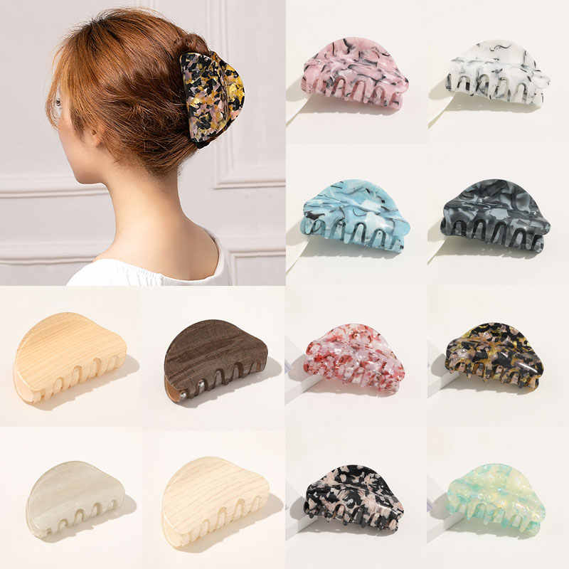 Multicolor Acrylic Hair Claw Crab Clamp Hair Clip Make Up Hair Styling Women Hot
