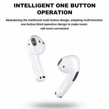 Mini Pro 4 TWS Bluetooth Earphones Hi-Fi Wireless Headphones In-Ear Stereo Earbuds Hands-Free Headset For Smart Phone 2