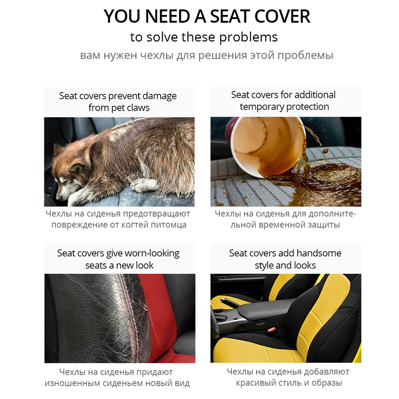 Image 4 - Seat Cover Supports High Back Bucket AUTOYOUTH Car Seat Cover Universal Fits Most Interior Accessories Seat Cover-in Automobiles Seat Covers from Automobiles & Motorcycles