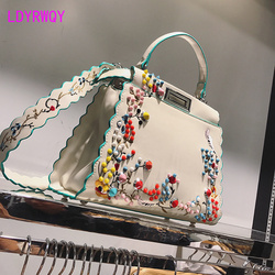 New fashion bags women embroidered rivet bags   Jacquard  Women  Floral
