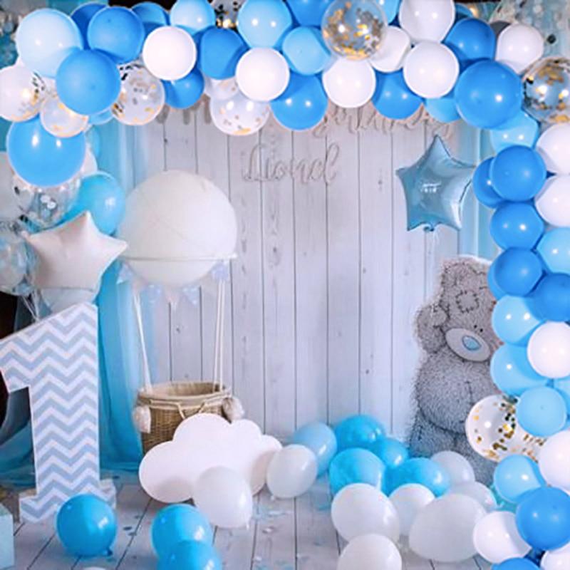 4pcs Baby Shower Birthday Foil Balloon For Newborn Boy Christening Party Decor