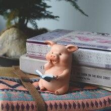 Повседневная коллекция, милая свинка, украшение, фигурка розовой свиньи, модель животного, украшение для автомобиля, украшение для кукольно...