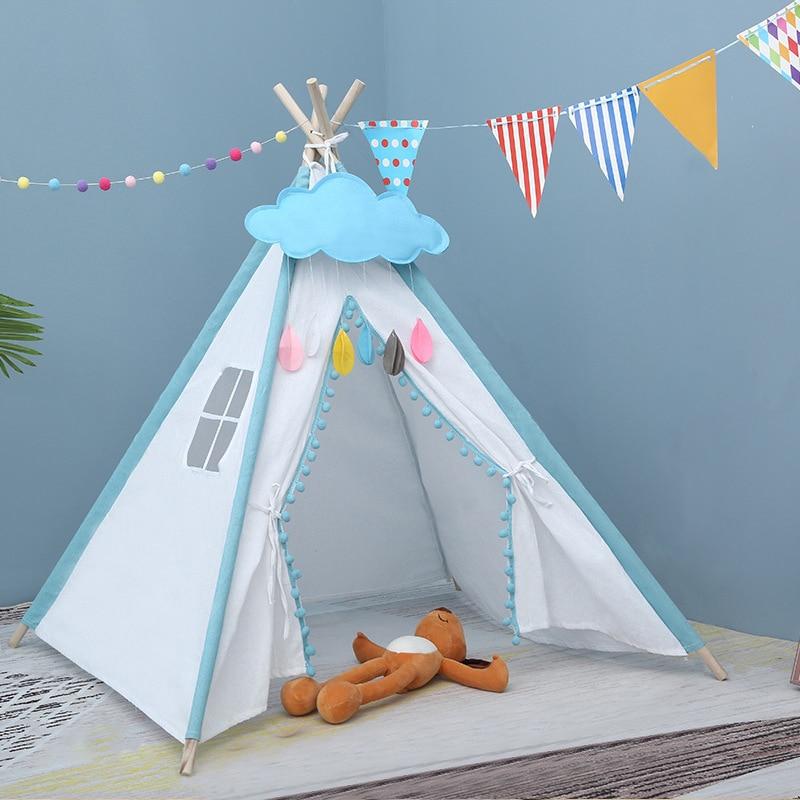 1.6M Children's Tent Wigwam House For Children Foldable Kids Playhouse Tipi Infantil Baby Child Teepee Tent For Kids