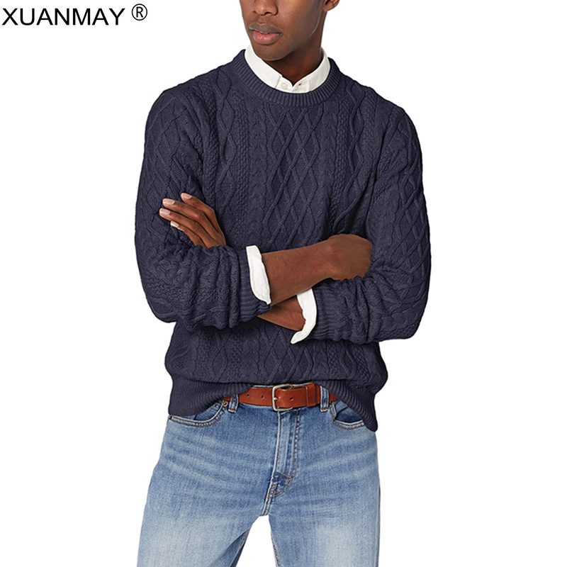 Spring 2020 Men's Pullover Sweater Casual Soft And Comfortable Pullover Sweater Coat Thick Warm High Quality Men's Sweater