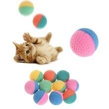 10 pçs pet brinquedo látex bolas colorido mastigar para cães gatos filhote de cachorro gatinho macio elástico # h0vh # transporte da gota