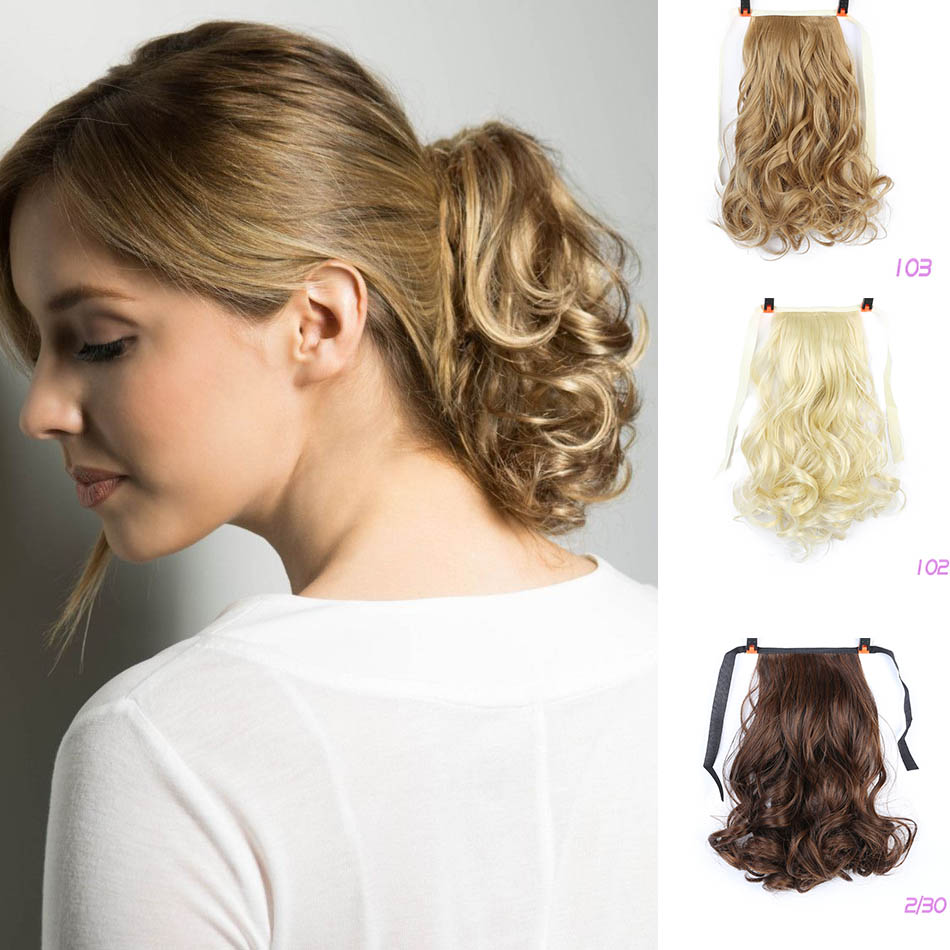 BUQI Adult Women Hair Short Curly Hair Tail Natural Clip In Hair Extensions Heat Resistant Synthetic Drawstring Hairpiece
