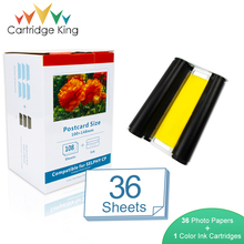 Cartridge King Color Ink Paper Set for Canon Selphy Printer CP1200 CP1300 CP910 CP900 36 Sheet