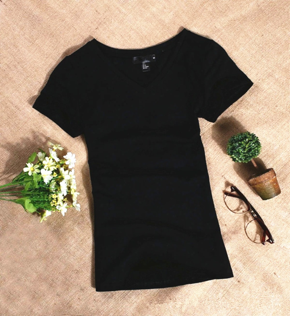 H26eaa834671f483da656d3b9236abcb4f - MRMT Women's T Shirt Women Short Sleeved Slim Solid Color Simple Pure Tee Womens T-Shirt For Female Women T shirts