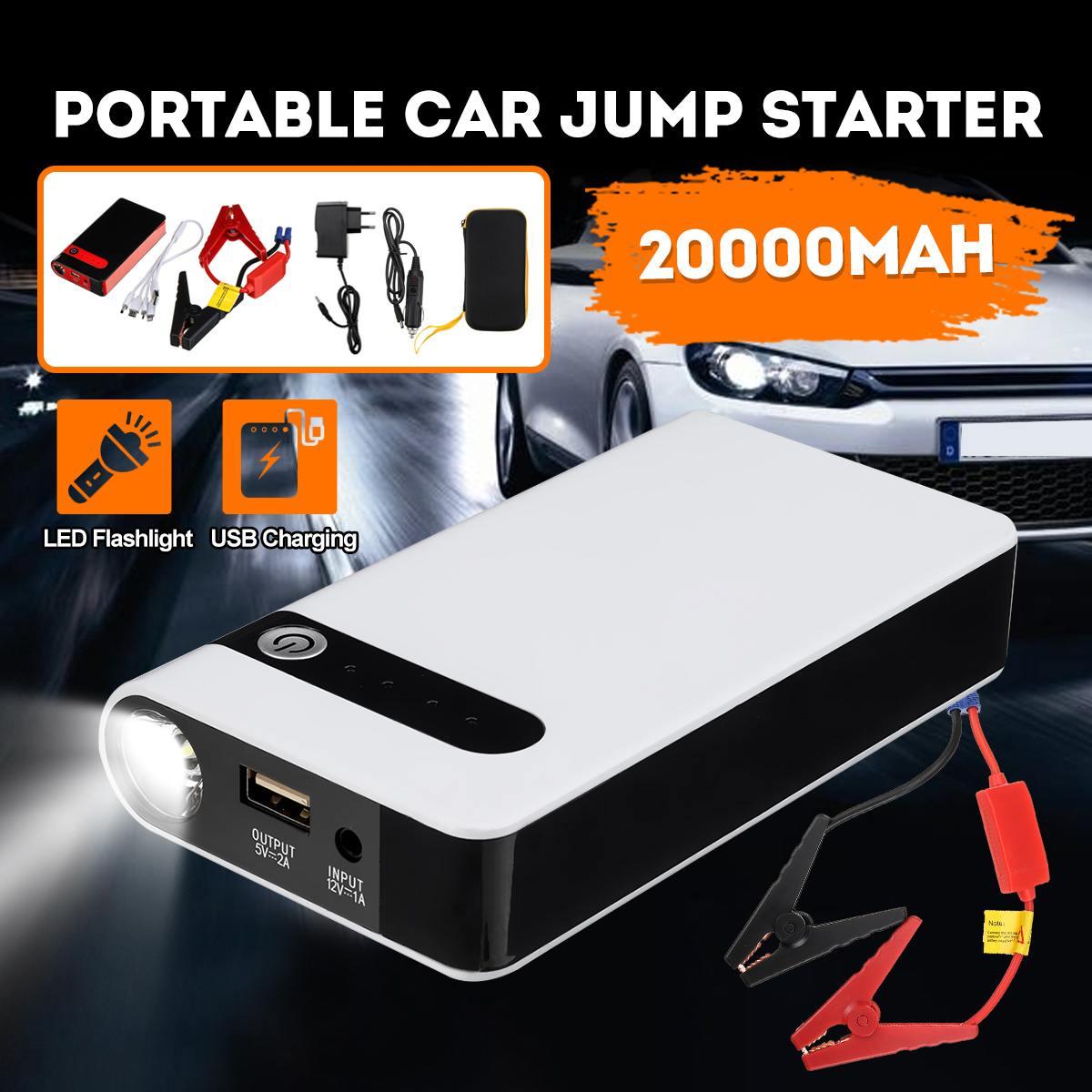 12V 20000mAh Car JUMP Starter Booster จัมเปอร์ USB Power Bank Battery Charger ฉุกเฉินราคาเริ่มต้นที่อุปกรณ์