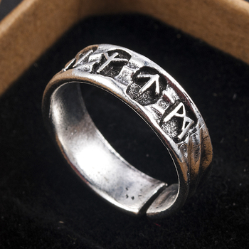 Punk Fashion Style Antique Retro Male Jewelry Viking Ring Female Black Amulet Vintage Norse Rune Rings For Women Men 2