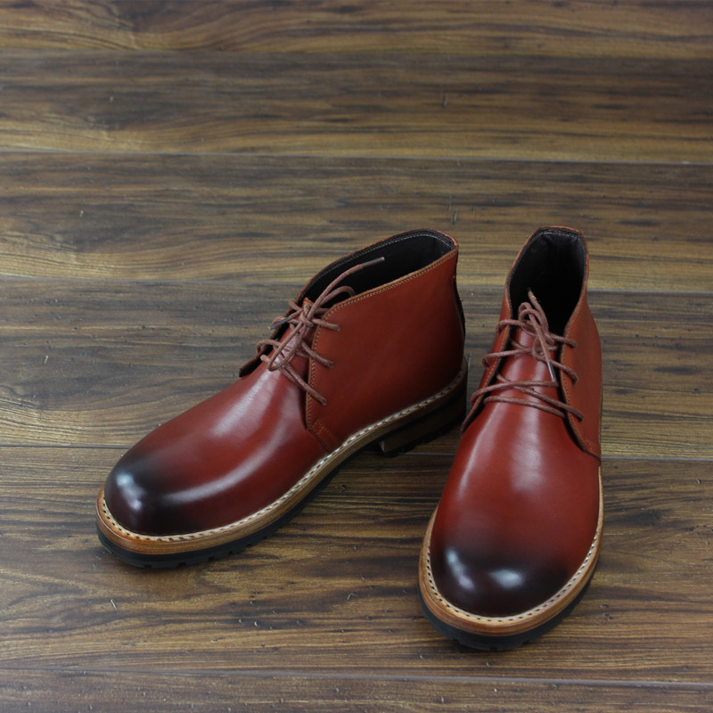 Goodyear Handmade Men Boots Martin Boots Boot Custom-made High-top Korean-style Custom Hand-painted Leather Pointed Toe Ankle