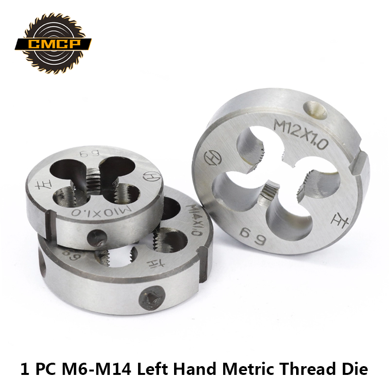 Free Shipping CMCP 1pc M6 M10 M12 M14 Metric Alloy Steel Round Threading Dies Thread Die Left Hand Screw Die Tapping Tools