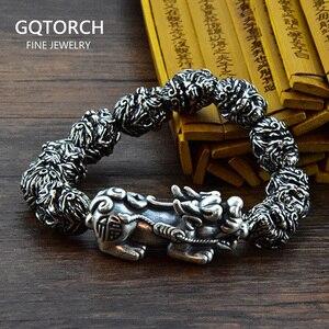 Image 1 - Buddha Bracelet Beads Bracelets For Men Monkey King Beaded Bracelet With Pixiu Charm Lucky Jewelry