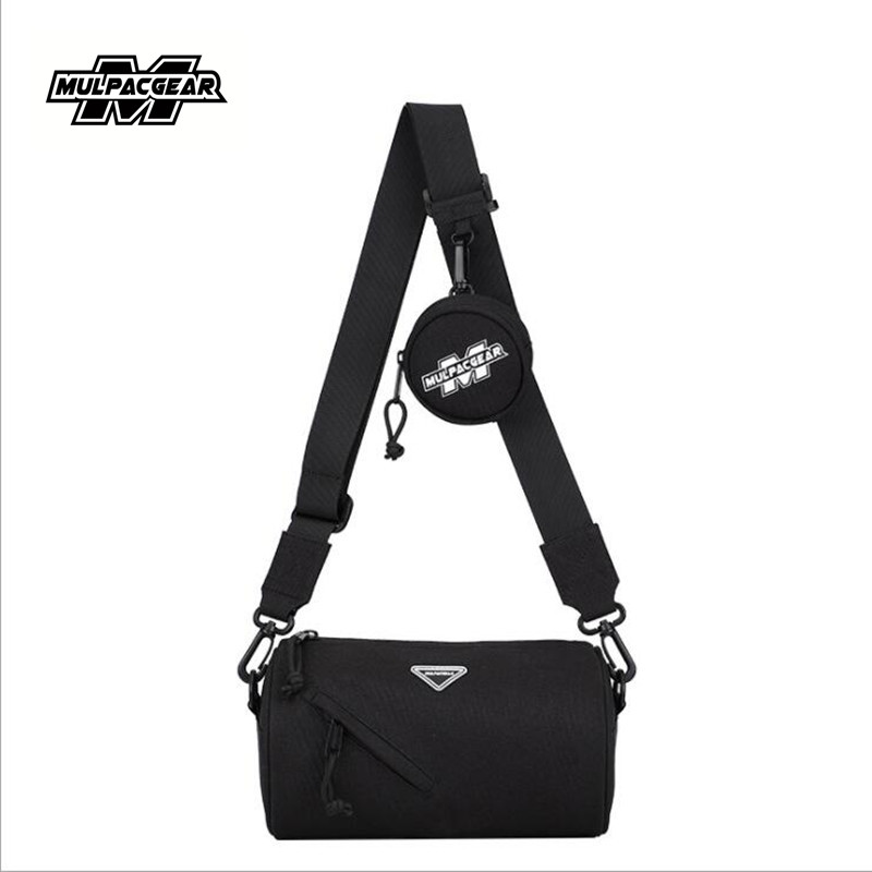 dropshipping 2020 new arrival men's casual fashion shoulder bag multifunctional waterproof cylinder bag trend messenger bag