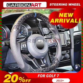 Carbon fiber steering wheel for golf 6 Golf 7 Scirocco car styling carbon parts for CC passat 2010 2012 2013 golf6 interior