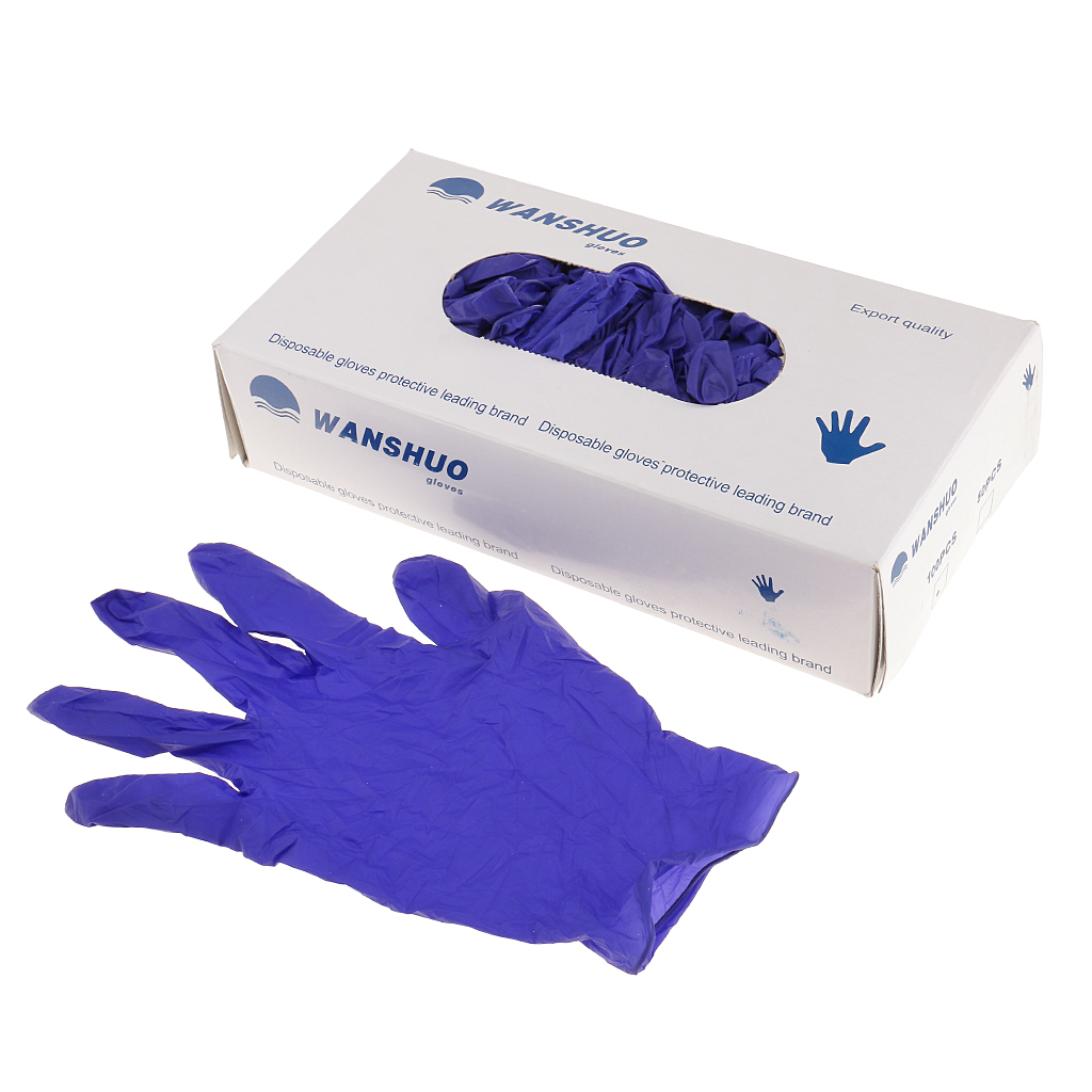 50 Pairs Nitrile Medical Grade Examination Disposable Rubber Glove XL/L/M/S