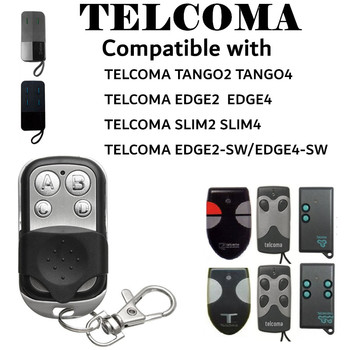 ABCD Wireless RF Copy TELCOMA EDGE2/4 Remote Control 433.92 MHz Electric Gate Garage Door Remote Control Key Fob Controller wireless rf remote control 433 mhz electric gate garage door remote control key fob controller