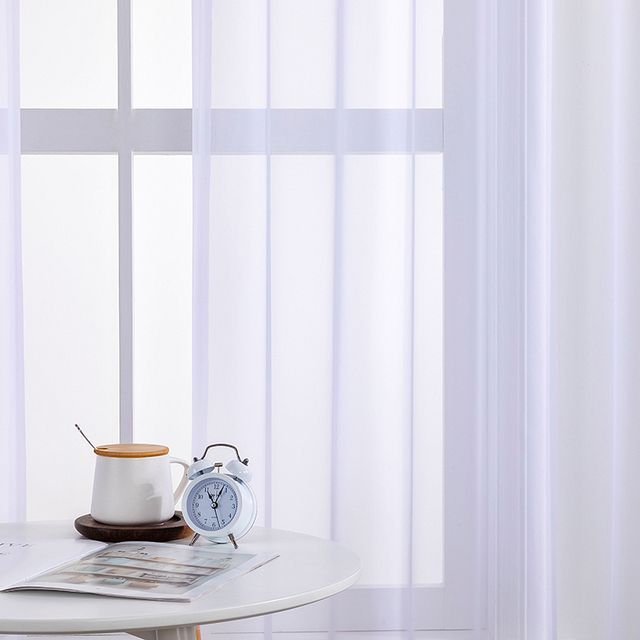 White Tulle Curtains for Bedroom 3