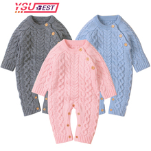 2020 Newborn Baby Boy Rompers Toddler Jumpsuit Girls Candy Color Knitted