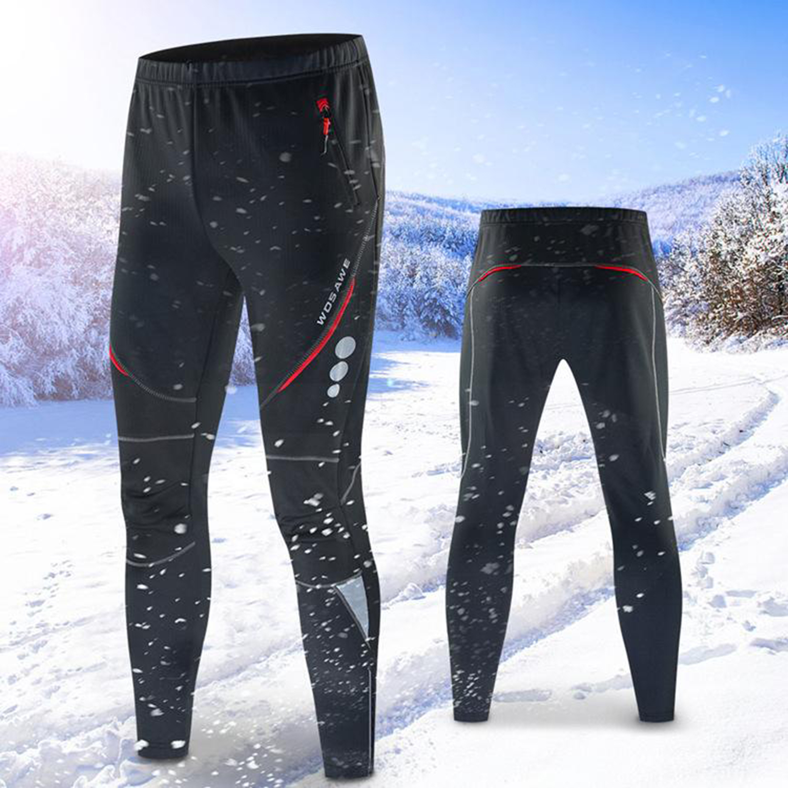 Snowboarding Skiing Pants Long Pants Windproof Cycling Thermal Fleece Winter Pants Running Hiking Cold Weather for Men