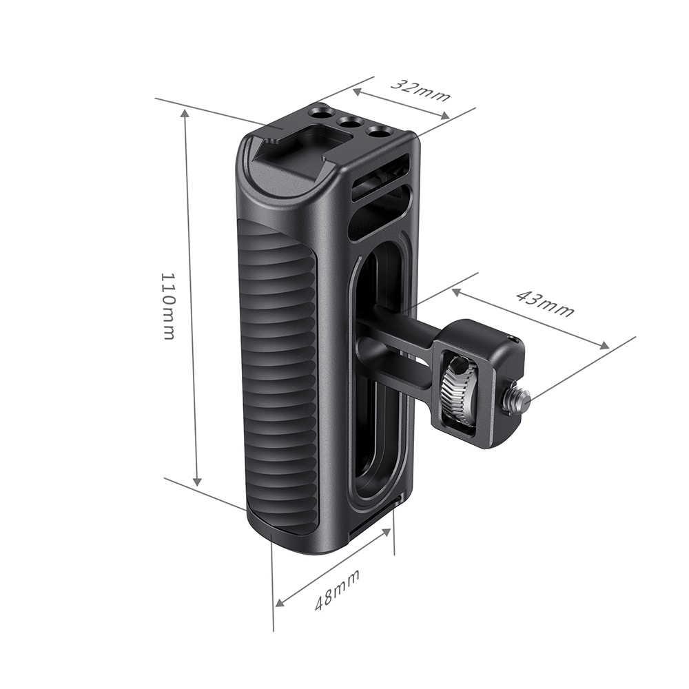 SmallRig cep telefonu kafes kolu alüminyum yan kol soğuk ayakkabı ile evrensel Smartphone için kafes hızlı bırakma grip -2424