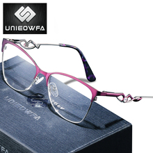 Myopia Optical Glasses Frame Women Progressive Prescription Eyeglasses Frame Female Clear Transparent Spectacles Frame Eyewear