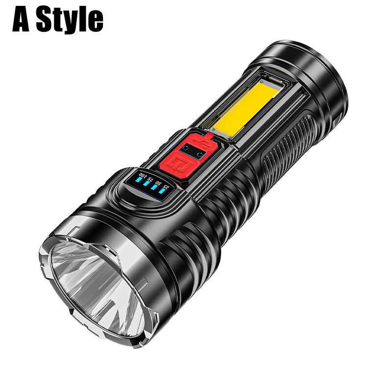 Mini-USB-DEL-Lampe de poche à nouveau Chargeable r5 Maniable puissante TASC #os