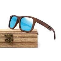 Wayfarer Full - Noyer - Bleu - Coffret en bois